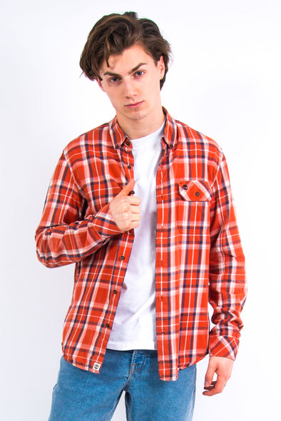 Timberland Orange Check Shirt