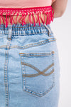 Vintage Faded Blue Denim Skirt