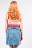 Vintage Denim Button Front Mini Skirt