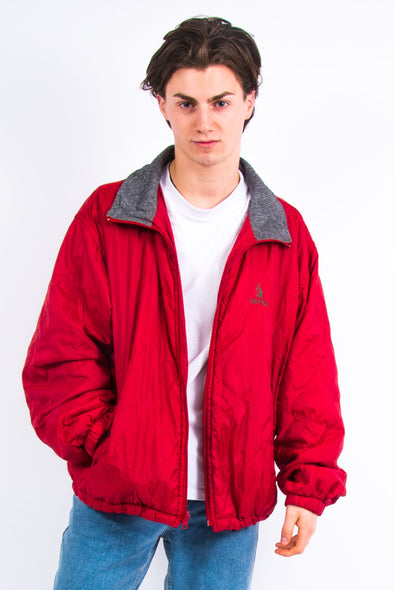 90's Nautica Red Quilted Jacket