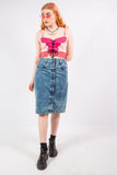 Vintage Denim Midi Skirt
