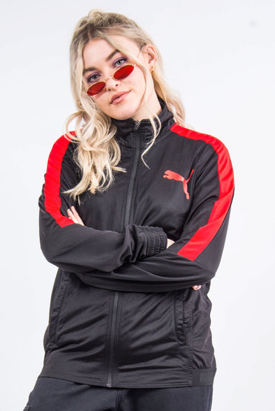 Puma Red and Black Tracksuit Jacket