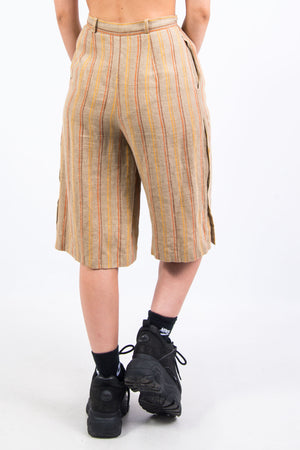 Vintage 90's High Waist Striped Culottes