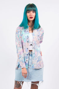 Vintage 90's Pastel Abstract Shirt
