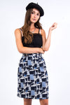Vintage 90's Abstract Pencil Skirt