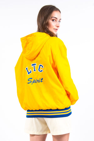 Vintage Yellow 1/4 Zip Hooded Jacket