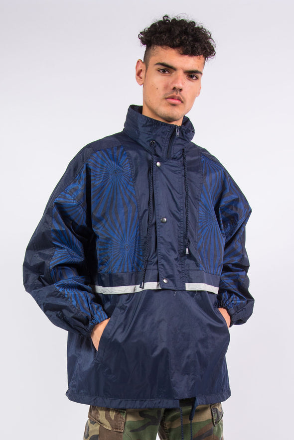 Vintage Waterproof Rain Jacket Cagoule 1/4 Zip