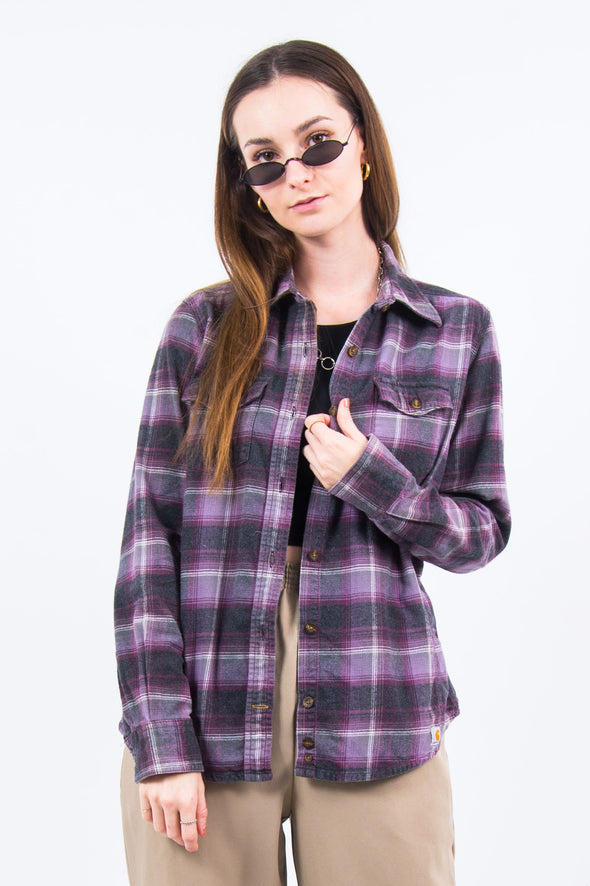 Carhartt Purple Flannel Shirt