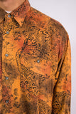 Vintage 90's Orange Abstract Print Shirt
