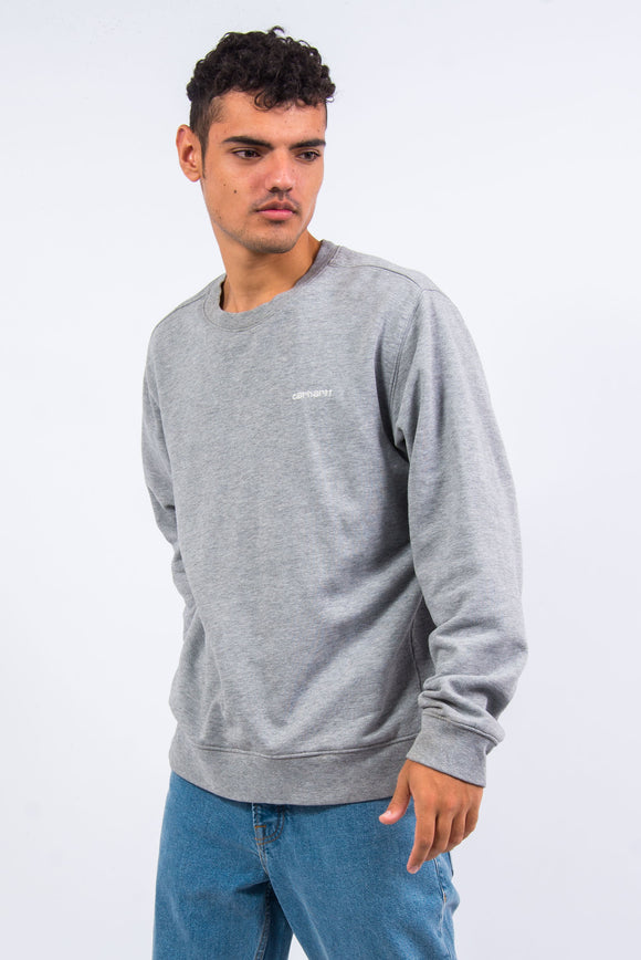Grey Carhartt Crew Neck Sweatshirt