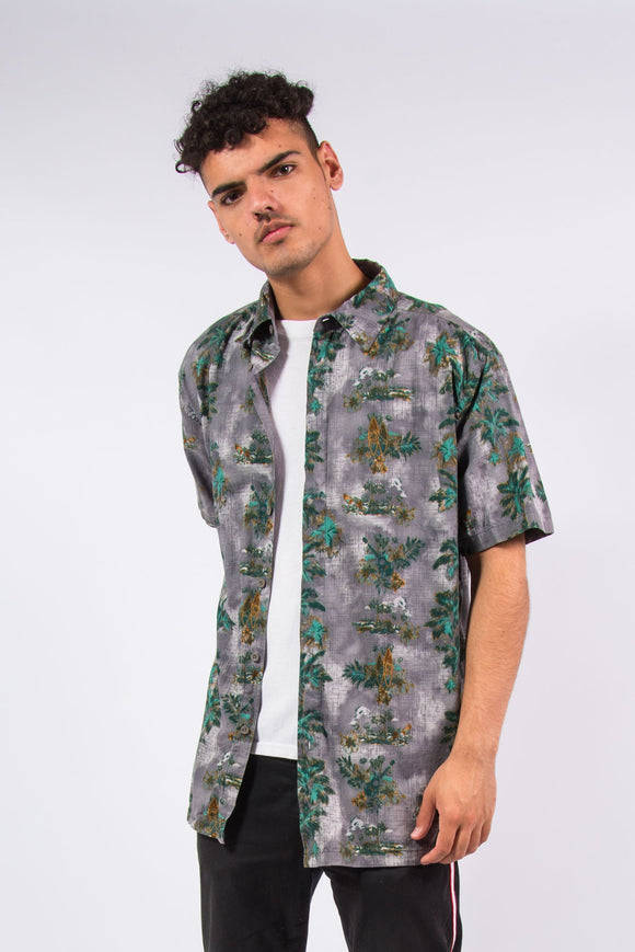 Vintage Patterned Hawaiian Shirt