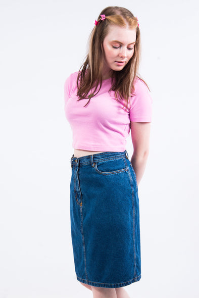 Vintage 90's L. L. Bean Denim Skirt