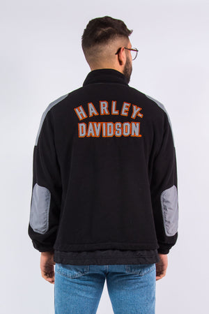 Y2K Harley Davidson Spell Out Fleece