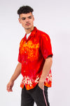 Vintage hawaiian red short sleeve shirt