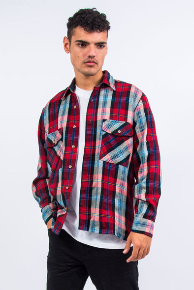 90's Classic Red Check Flannel Shirt