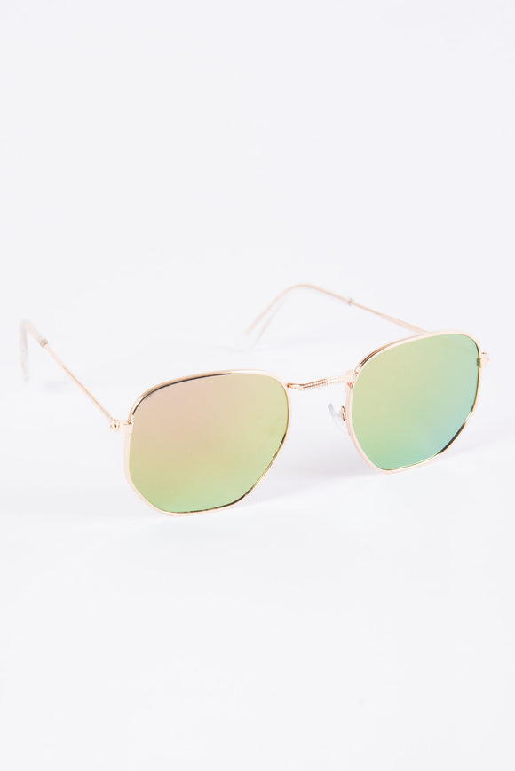 Toni Pink & Green Two Tone Sunglasses