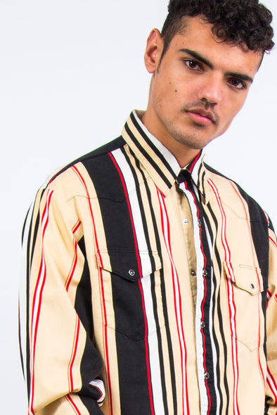 Vintage Wrangler Striped Western Shirt