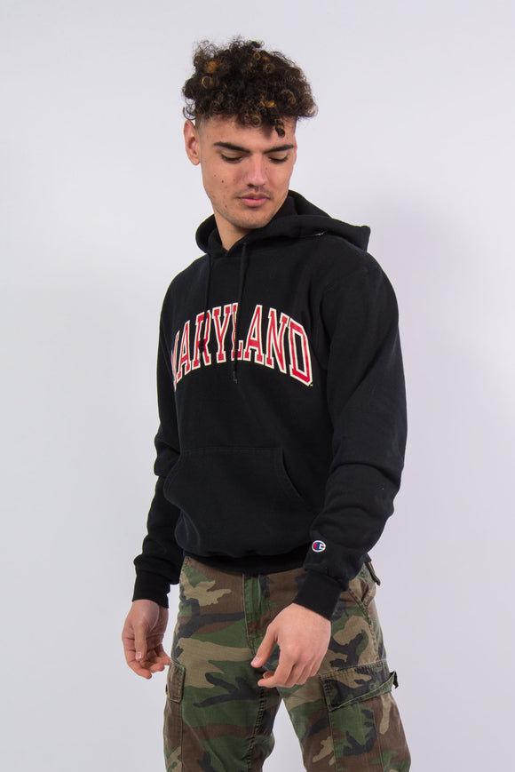 Vintage Champion Maryland Hoodie Hooded Sweatshirt
