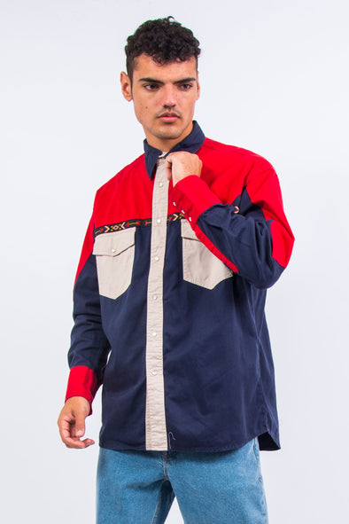 90's Colour Block Ranch Shirt