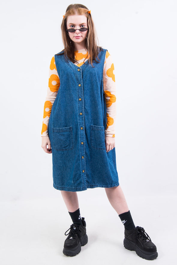 Vintage 90's Denim Midi Dress