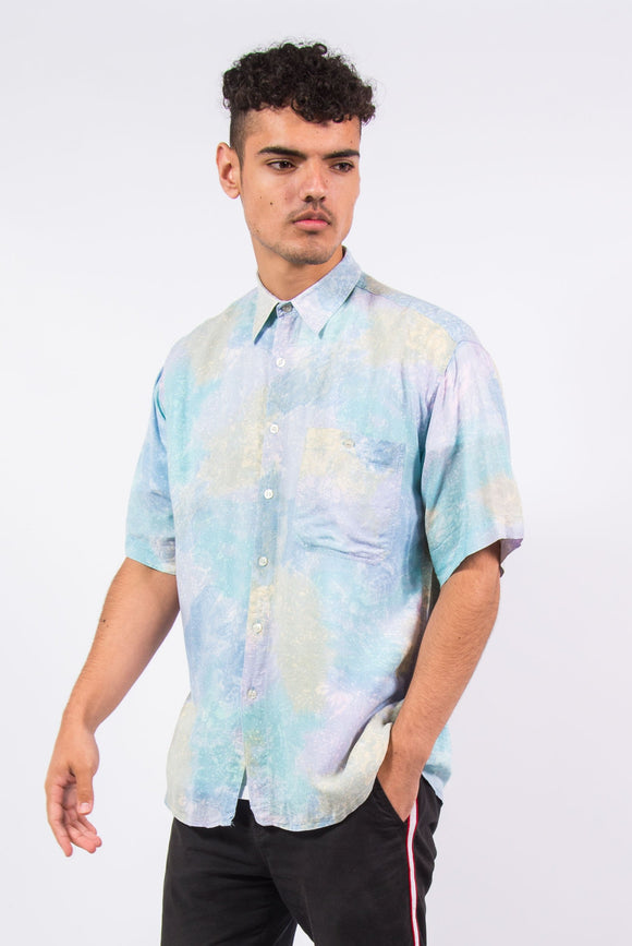 Vintage 90's Pastel Pattered Short Sleeve Shirt