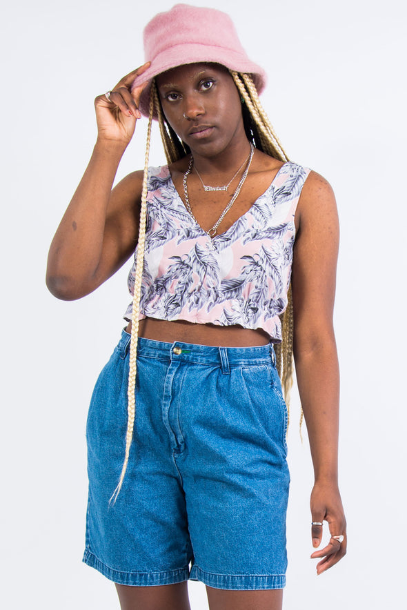 Vintage Hawaiian Frill Crop Top