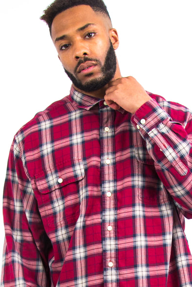 Vintage Nautica Check Flannel Shirt