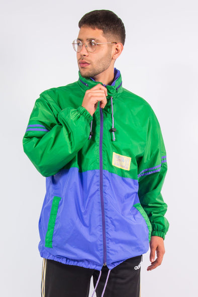 Vintage Colour Block Cagoule Windbreaker Jacket