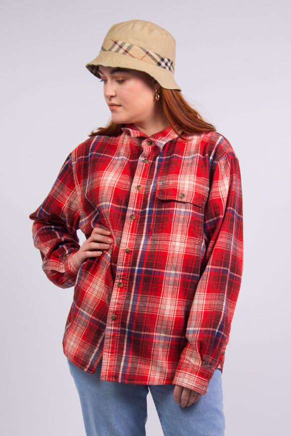Vintage 90's Red Flannel Shirt