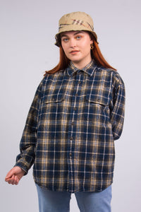 Vintage 90's Blue Flannel Shirt
