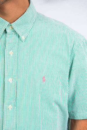 Ralph Lauren Green Seersucker Shirt