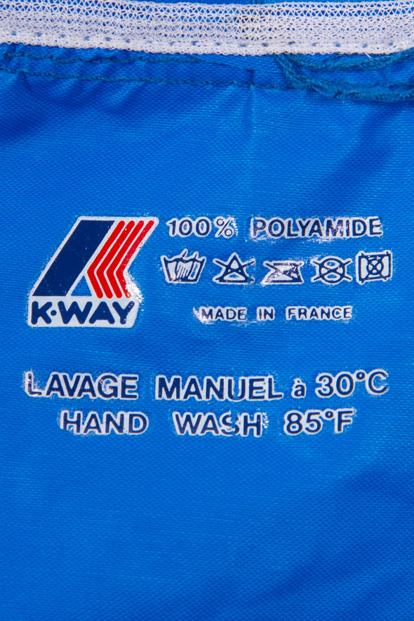 Vintage K-Way waterproof cagoule rain jacket