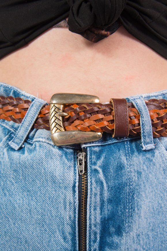 Vintage Woven Leather Belt