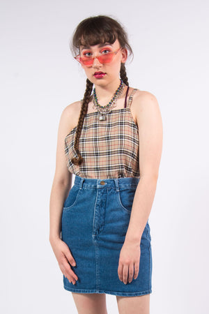 Vintage 90's Blue Denim Skirt