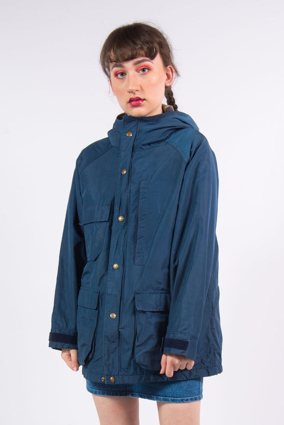 Vintage 90's Blue Parka Coat