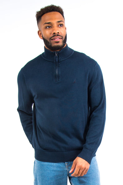 Nautica Cotton Knit 1/4 Zip Jumper