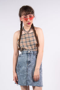 Vintage 90's Acid Wash Denim Skirt