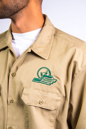 Vintage Dickies Beige Work Shirt