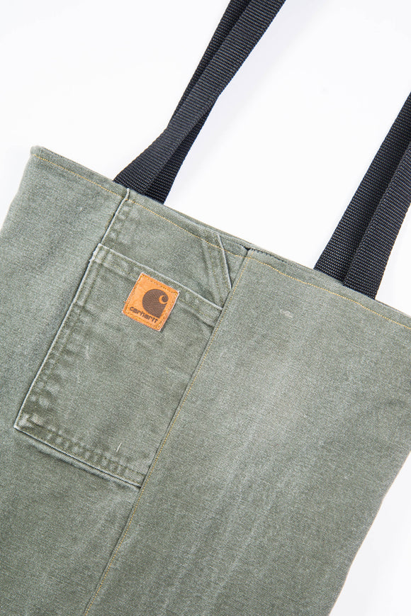 Carhartt Green Canvas Tote Bag
