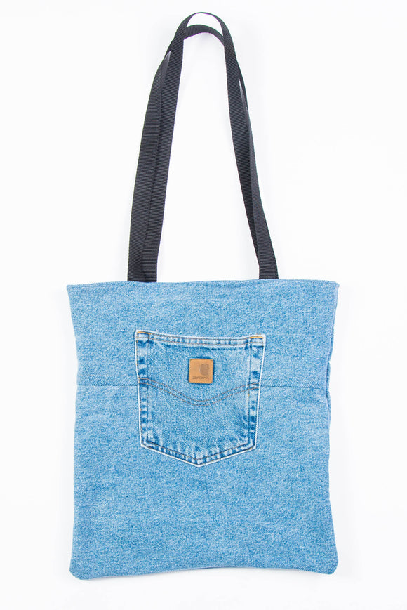 Carhartt Blue Denim Tote Bag