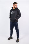 Nike Dri-Fit black sports hoodie with American Football printed graphic logo