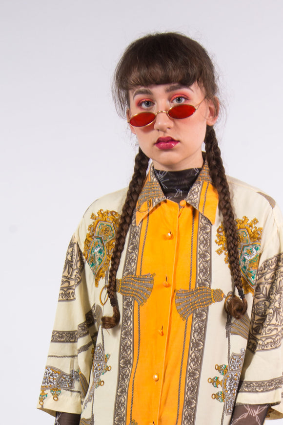 Vintage 90's Baroque Pattern Shirt