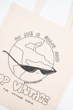 Do Me A Solid Worldie Print Tote Bag