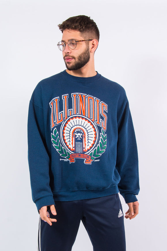 90's Illinois University Sweatshirt