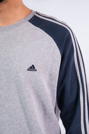 00's Adidas Three Stripe Sweatshirt