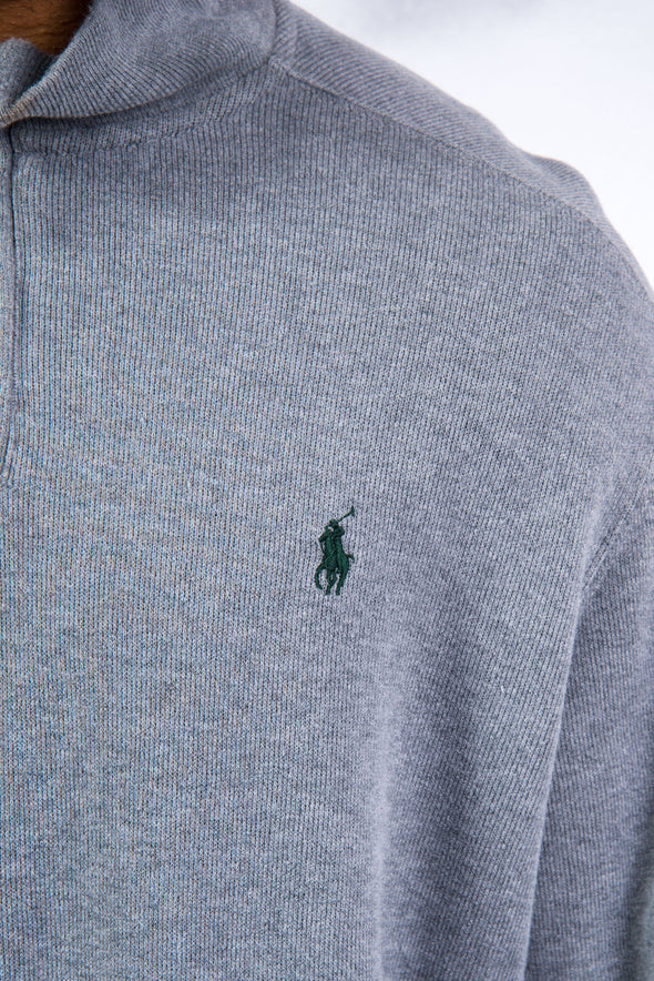 Ralph Lauren Grey 1/4 Zip Sweatshirt