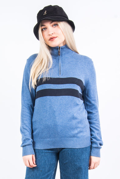 Nautica 1/4 Zip Cotton Knit Jumper