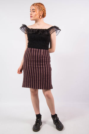 Vintage 90's Knit Pencil Skirt