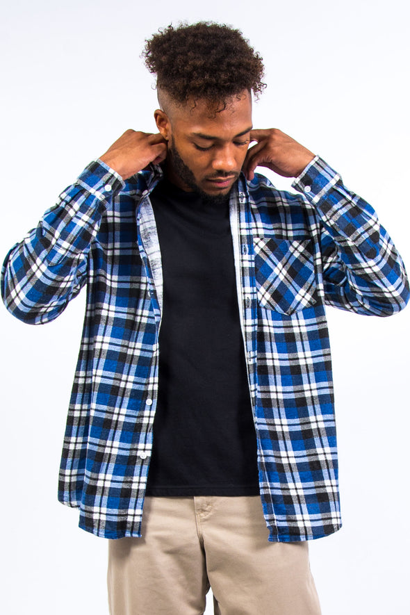 Blue Check Flannel Shirt