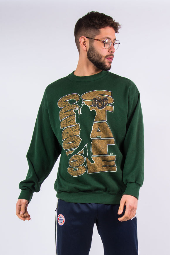 Vintage made in the USA Colorado State Rams college football team sweatshirt